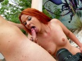 Vidéo porno mobile : Redhead girl gets fucked during her friend takes pictures of her